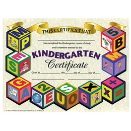 Kindergarten Certificate - Blocks Border