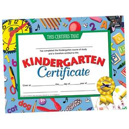 Kindergarten Certificate - Clocks Border