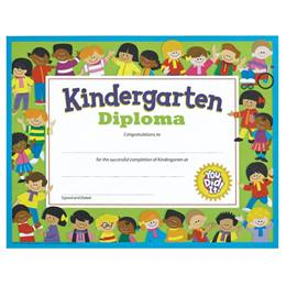 Kindergarten Diploma - Kids Border