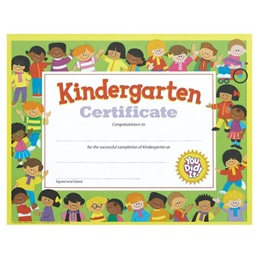 Kindergarten Certificate - Kids Border
