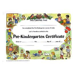 Pre-Kindergarten Certificate - Kids and Birds