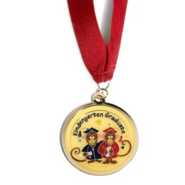 Kindergarten Graduate Medallion - Monkeys