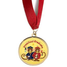 Preschool Graduate Medallion - Monkeys